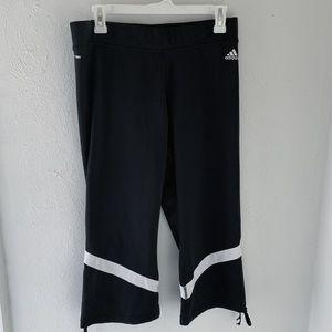adidas athletic capri workout pant size large